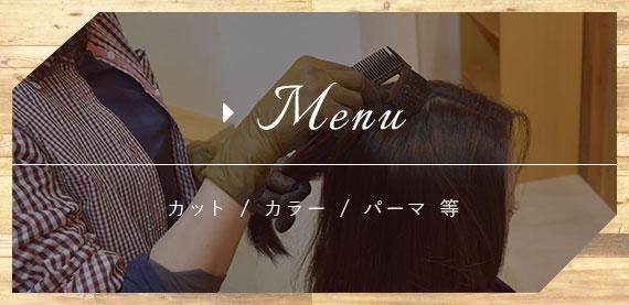 Menu カット / カラー / パーマ 等